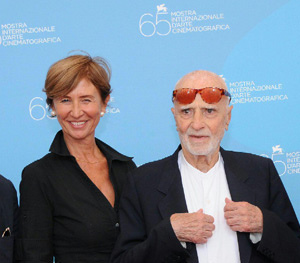 Chiara Rapaccini e Mario Monicelli