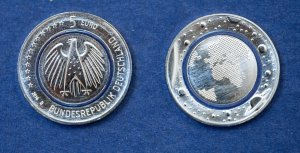 moneta da cinque euro tedesca
